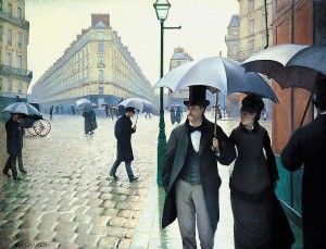 Caillebotte Paris on a rainy day